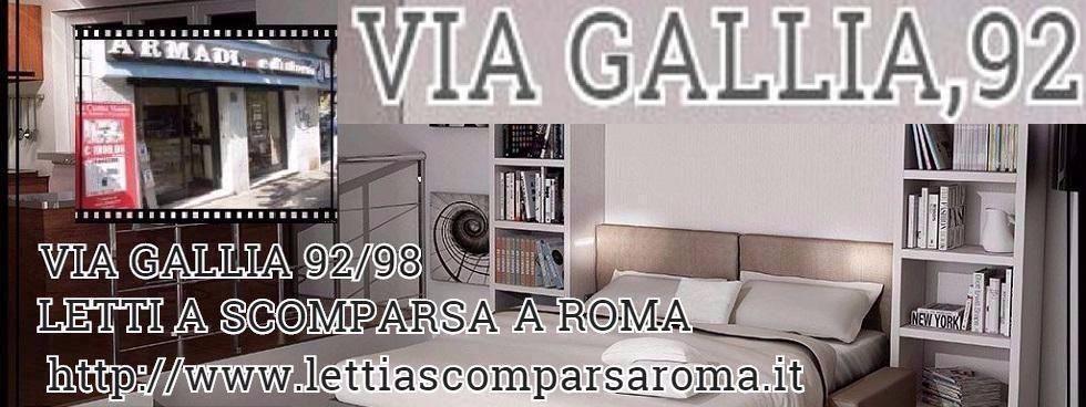 LETTI A SCOMPARSA A ROMA-VIA GALLIA,92-MINI CUCINE