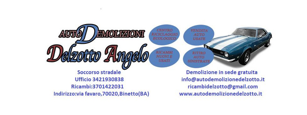 Autodemolizione DELZOTTO - Binetto - Autodemolizione Delzotto fornisce ricamb - Subito Impresa+