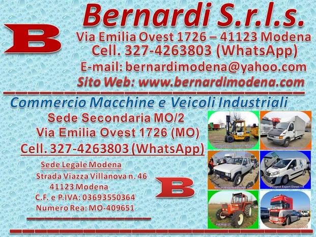 BERNARDI S.r.l.s. - Modena - L'AZIENDA  Commercio Macchine e Veicoli - Subito Impresa+