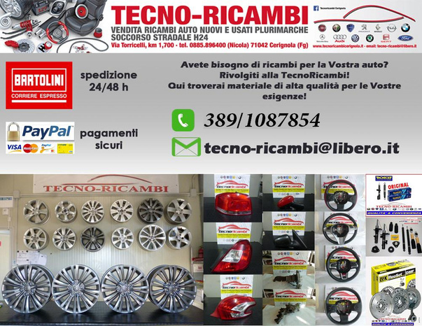 TECNO RICAMBI - Cerignola - TECNO RICAMBI garantisce ricambi  accura - Subito