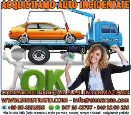 COMMERCIO AUTO SINISTRATE/INCIDENTATE/ALLUVIONATE - Roma - COMMERCIAMO AUTO SINISTRATE IN TUTTA ITA - Subito Impresa+