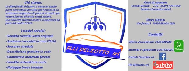 Flli Delzotto srl - Binetto - La ditta Fratelli Delzotto srl fornisce - Subito