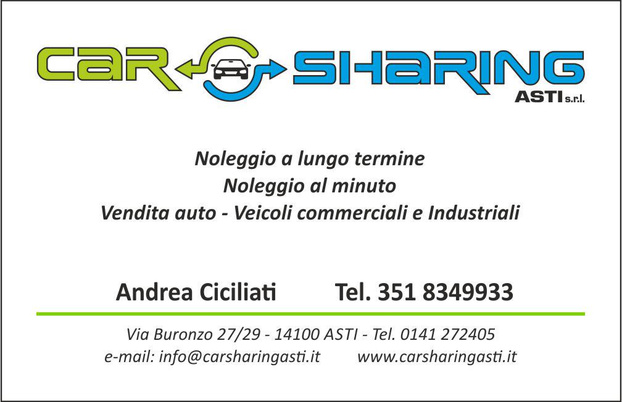 Car Sharing Asti srl - Asti - Da Car Sharing potrete: -noleggiare a lu - Subito