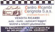 CENTRO RICAMBI CERIGNOLA
